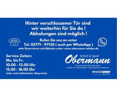 """""""Click + Collect""""  bei Schuh und Sport Obermann in Rahden"""