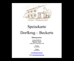 Dorfkrug Beckert